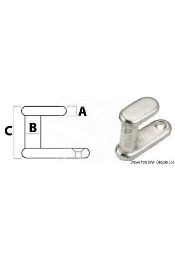 Coat hook (A mm: 5,7, B mm: 9,2, C mm: 30)