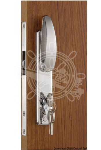 For sliding doors, with external handle, Yale external key and internal block