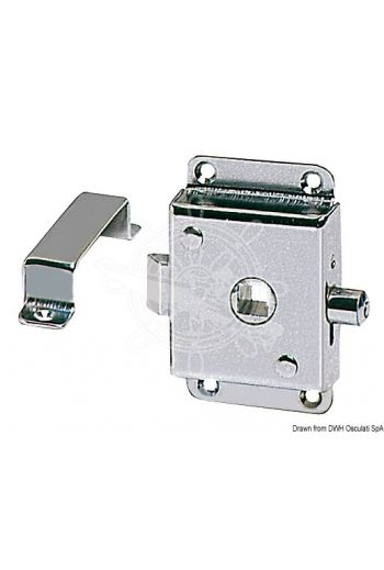 Lock for W.C. units fitted with locking lever (Measures: 72x46, Frame mm: 8)