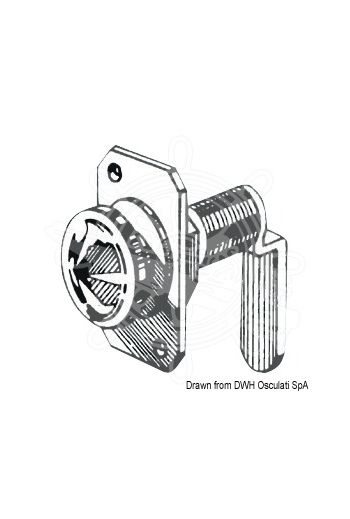 Small rotating latch lock (Ø Hole mm: 16, Thread length mm: 16)