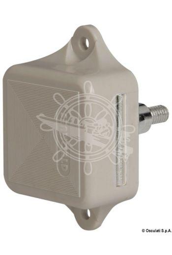 MEDIUM pushbutton spring lock (Colour: White, For hatch thickness mm - A: 16/19, For hatch thickness mm - B: 19, For hatch thickness mm - B1)