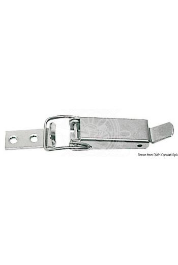 Stainless steel toggle fastener suitable for trunks and hatches
