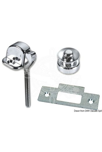 Button latch (Measures: 30x23 mm, Knob Ø: 25 mm)