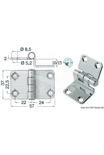 2-mm overhang hinges