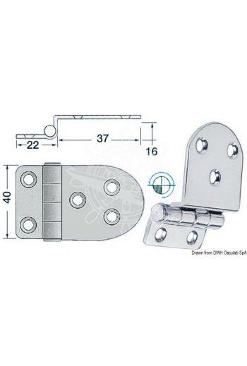 Overhang hinges 2 mm (Measures: 59x40)