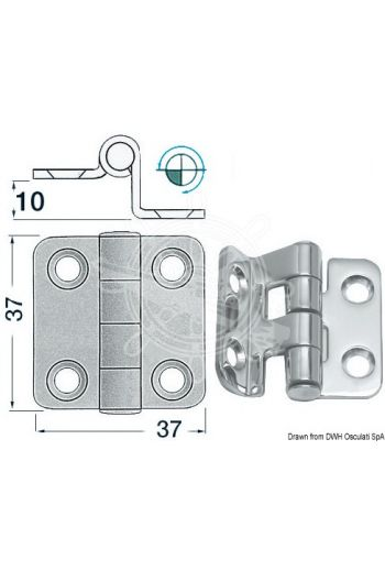 2-mm overhang hinges (Measures: 37x37)