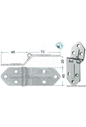 Hinges 2,5 mm (Measures: 118x40, Type: standard pin)