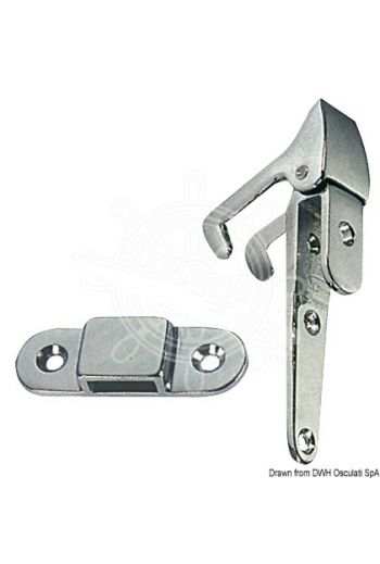 Ladder hinge with hook support