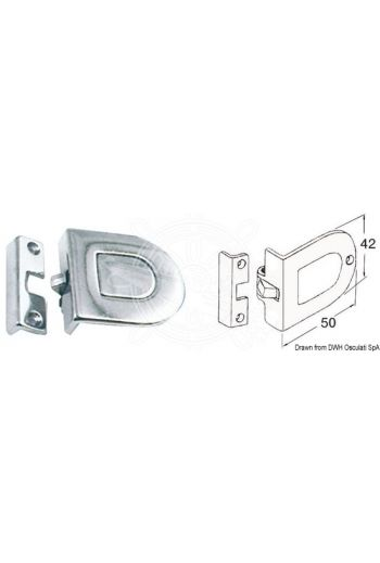 Latch with pressure opening