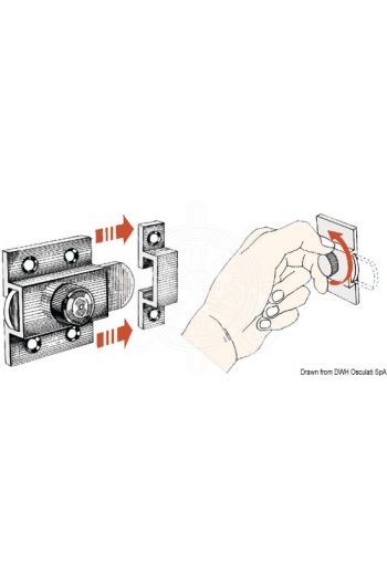 Latch lock (Measures: 37x42)