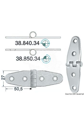 Hinges 2 mm thickness