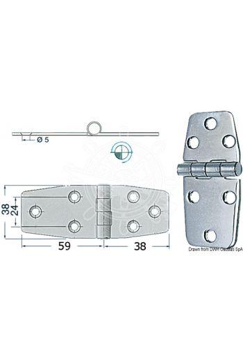 Hinges 2,5 mm (Measures: 97x38, Type: standard pin)