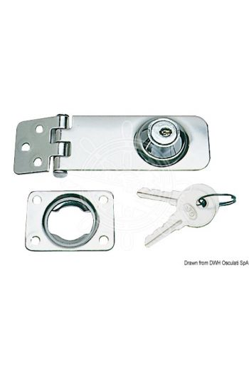 Locking hasp & staple for lockers and hatches