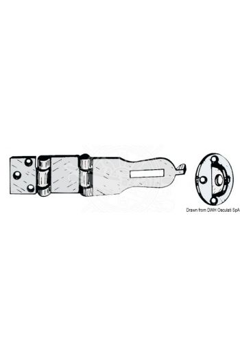 Hasp & Staple (Measures: open 140x35)