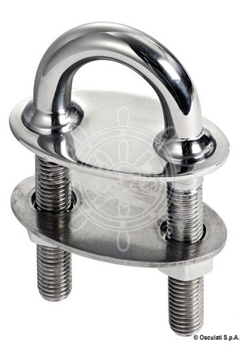 De Luxe U-bolt with large plate and counterplate and conic fittings