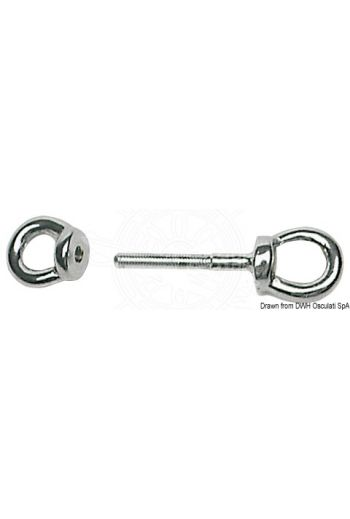 Double eyebolt for dinghy stern mounting