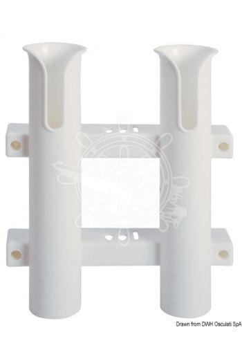 Plastic fishing rod holder for bulkhead mounting