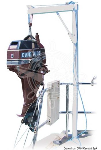 Foldable and swivelling davits (Height cm: 135, Projection cm: 50, Working load max kg: 45, Closed length - Ø mm: 38, Measures: 75)