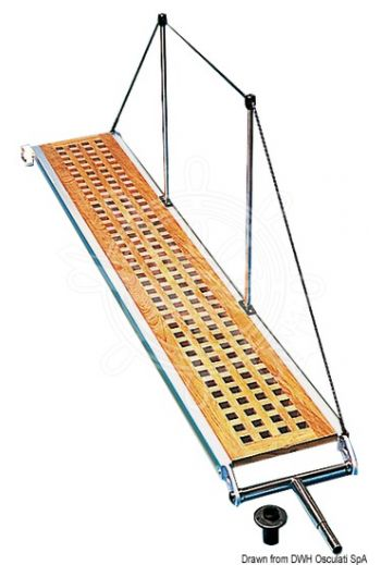 Gangway (Version: Fixed, Length: 2,1 m, Width: 34 cm, Weight in kg: 13)