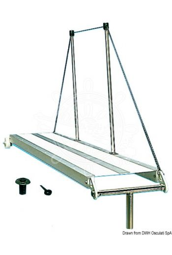 Gangway (Version: Fixed, Length: 2 m, Width: 33 cm, Weight in kg: 10)