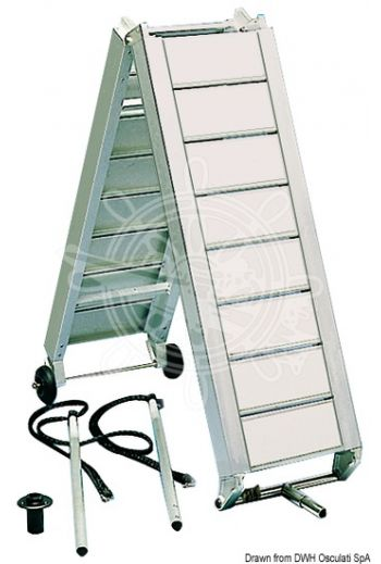 Aluminium gangways with oversized stringers