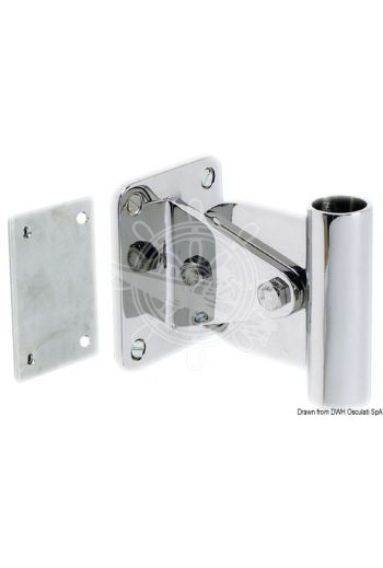 Adjustable bushing (+-30°) (Mounting base mm: 100x80, Suitable for gangway shaft: 25 mm, counter plate: INCLUDED)