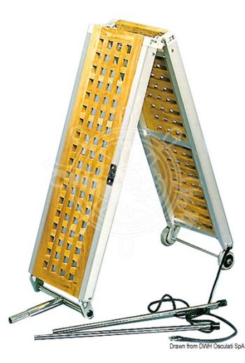 Foldable gangways (Version: Foldable, Length: 2,1 m, Width: 36 cm, Weight in kg: 15)