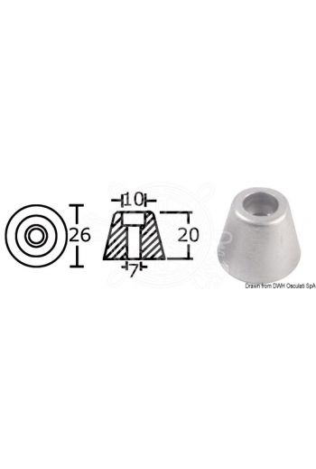 Spare anodes for Side-Power (Sleipner) bow/stern propellers