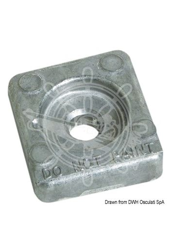 Zinc anode for Honda 8/20 HP (Original reference: 41106-ZW9-020)