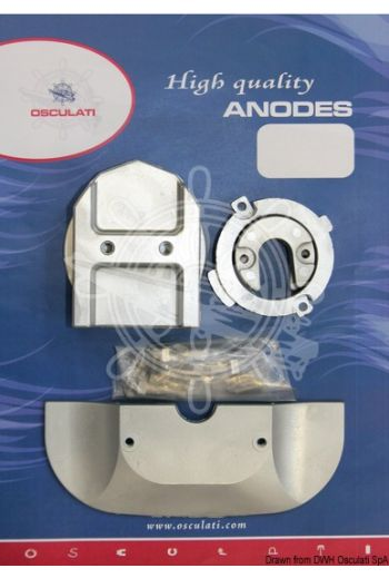 Anode kit for Mercruiser, interchangeable with genuine ones