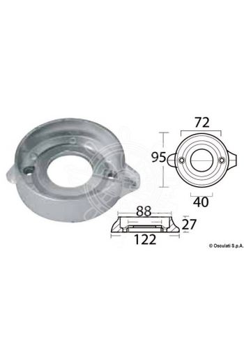 Collar anode for Sail Drive