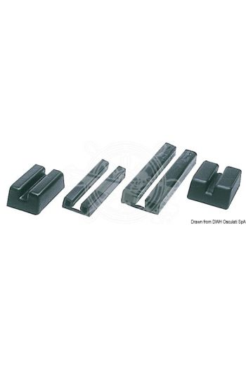PVC rubbing strake suitable for boats with boxed joint