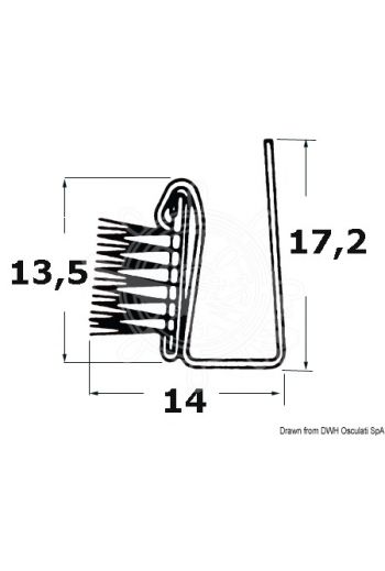 Anti-draught guide (Height mm: 17,2, Width mm: 14, Rod length m: 2,44)
