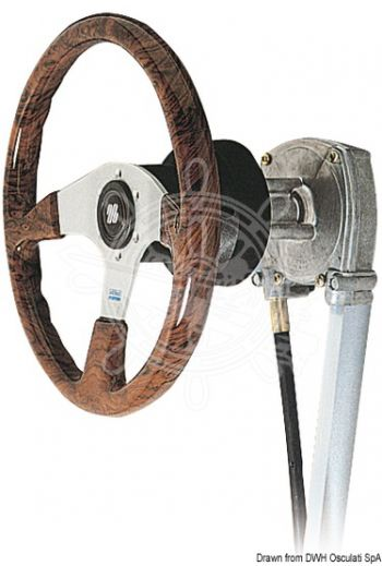 Rotary steering system T 71 (Description: Control mech only, M66 cable only: 45.185.xx*, Cover - 90°: 45.055.02, Cover - 20°: 45.055.03)
