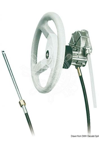 Rotary steering system T 85 (Description: Control mech and cover 90°, M66 cable: 45.185.XX *)