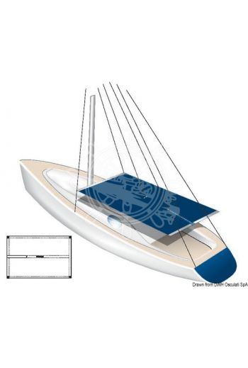 White waterproof awning - suitable for sailing boats