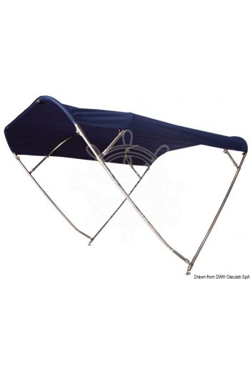 SHADE MASTER FLY INOX DEPTH 4-arch folding bimini top