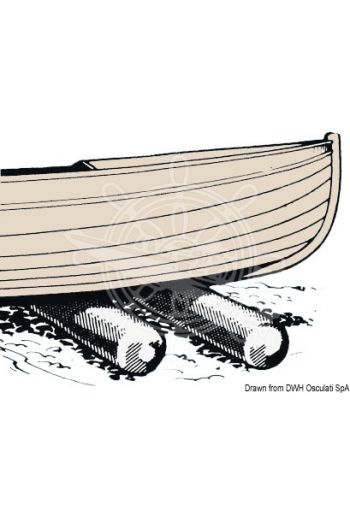 """Roll Boats"" Hauling rolls (Length: 125 cm, Ø: 22 cm, Load: 200 kg, Thickness: 0,55 mm)"