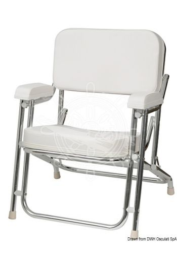 Anodized aluminium Captain's chair (Colour: [img:COLORE_bianco_pieno.eps White, Measures: 66x76x58h)