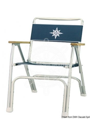 Anodized aluminium folding chair