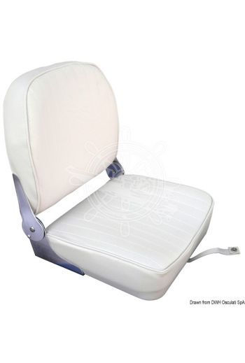 Seat with foldable backrest