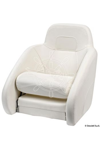 Ergonomic padded seat with H54 flip-up bolster