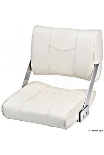 Reverso seat with rotating backrest