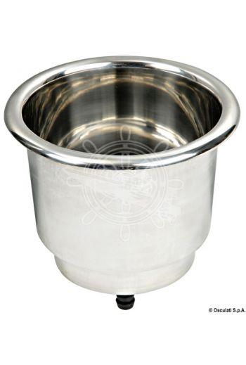 Deluxe stainless steel glass holder