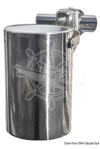 Mobile cardan-joint drinks holder for dashboard (Length: 120 mm, Housing Ø: 67 mm)
