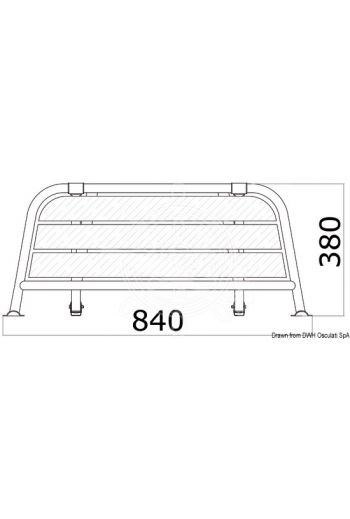 Stern gangplank for sailing boats/motorsailers