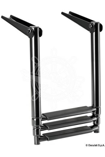 Total Black telescopic ladders for platforms (black colour)