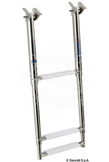 Telescopic ladder for fixing under the gangplank (Steps: 3, Tube Ø mm: 19/25/31, Length mm - Extended: 880, Length mm - Retracted: 370, Max width mm: 300)
