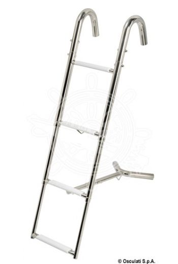 Bow telescopic ladder (Steps: 4, Ladder length mm* - open: 1100, Ladder length mm* - closed: 394, Max length mm: 315)