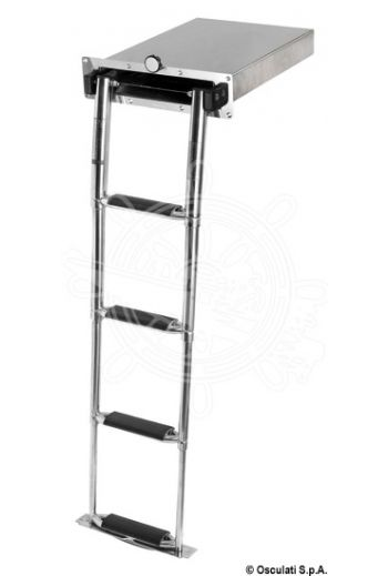 Montecarlo retractable ladder (Steps: 4, Length mm: 1130, Front plate mm: 395x104)